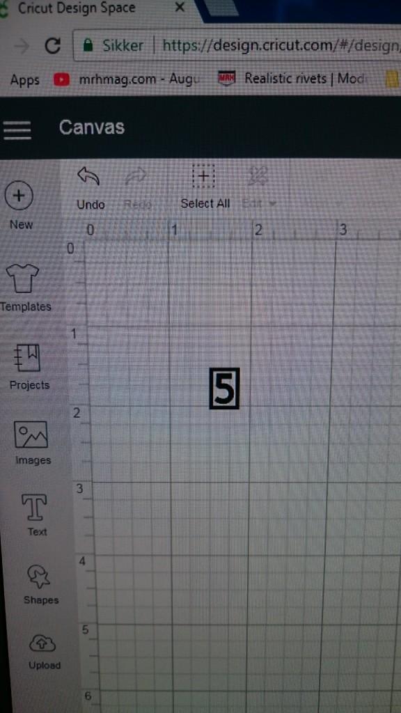 Først har jeg tegnet motivet i et vektor tegneprogram (InkScape) og derefter importeret det til skæreplotterens software (Cricut Design Space) for at kunne skære det ud.